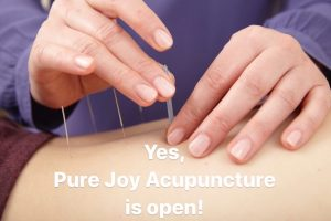 Yes, Pure Joy Acupuncture is Open!